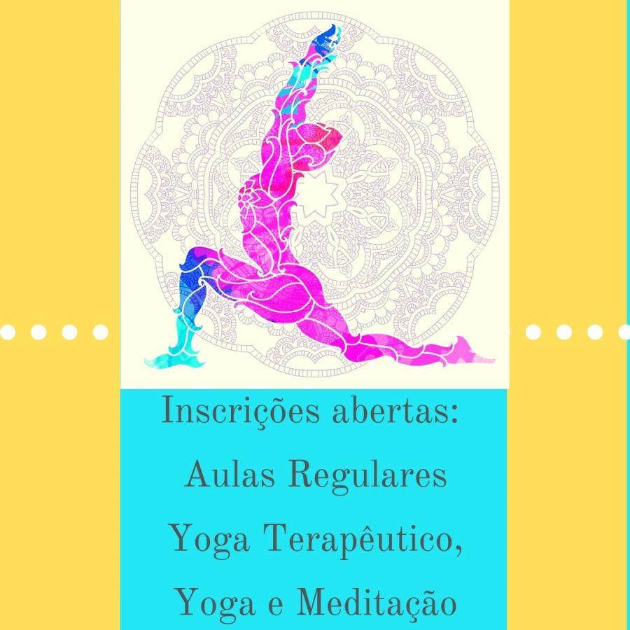 Aulas regulares, Yoga, Yogaterapia, Meditação