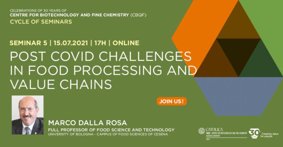 Seminário: Desafios pós -COVID no processamento de alimentos e cadeias de valor