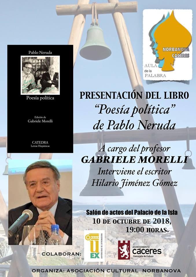 'Poesía política' de Pablo Neruda