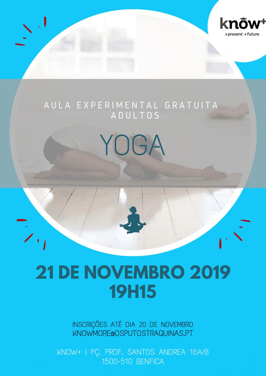 Yoga - Aula Experimental Gratuita