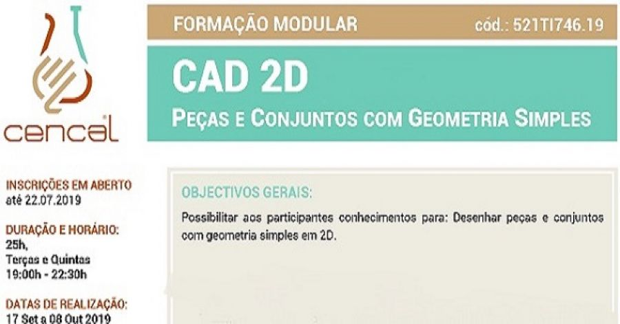 CAD 2D - Peças e Conjuntos com Geometria Simples