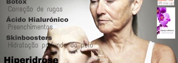 Consultas gratuitas de rejuvenescimento facial (botox, ácido hialurónico e skinboosters) e Hiperidrose