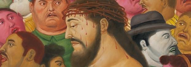Viacrucis, la pasión de Cristo. Fernando Botero. Pintura y dibujo