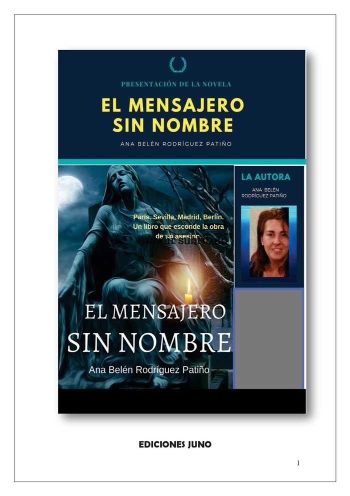 """PRESENTACIÓN """"EL MENSAJERO SIN NOMBRE"""""""