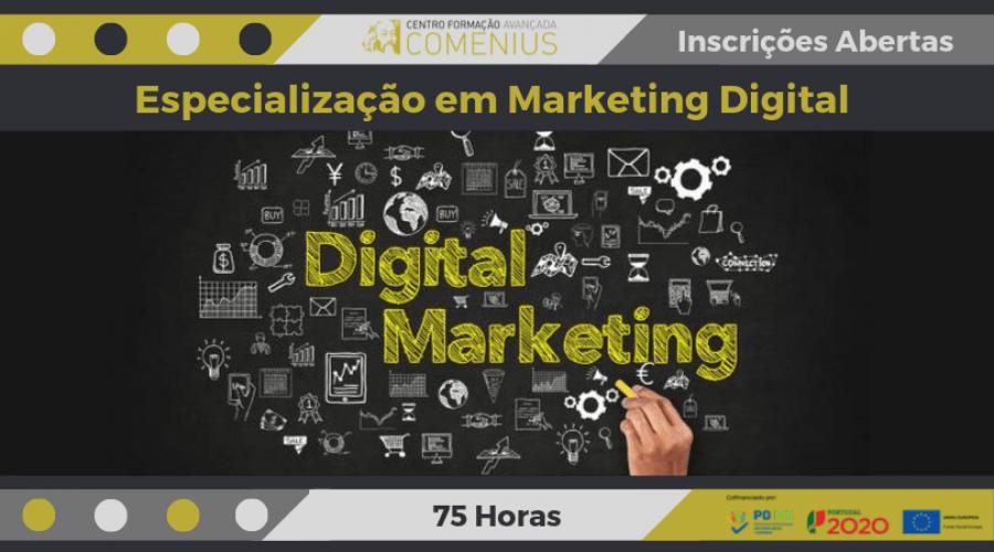 Especialização em Marketing Digital I 75 Horas