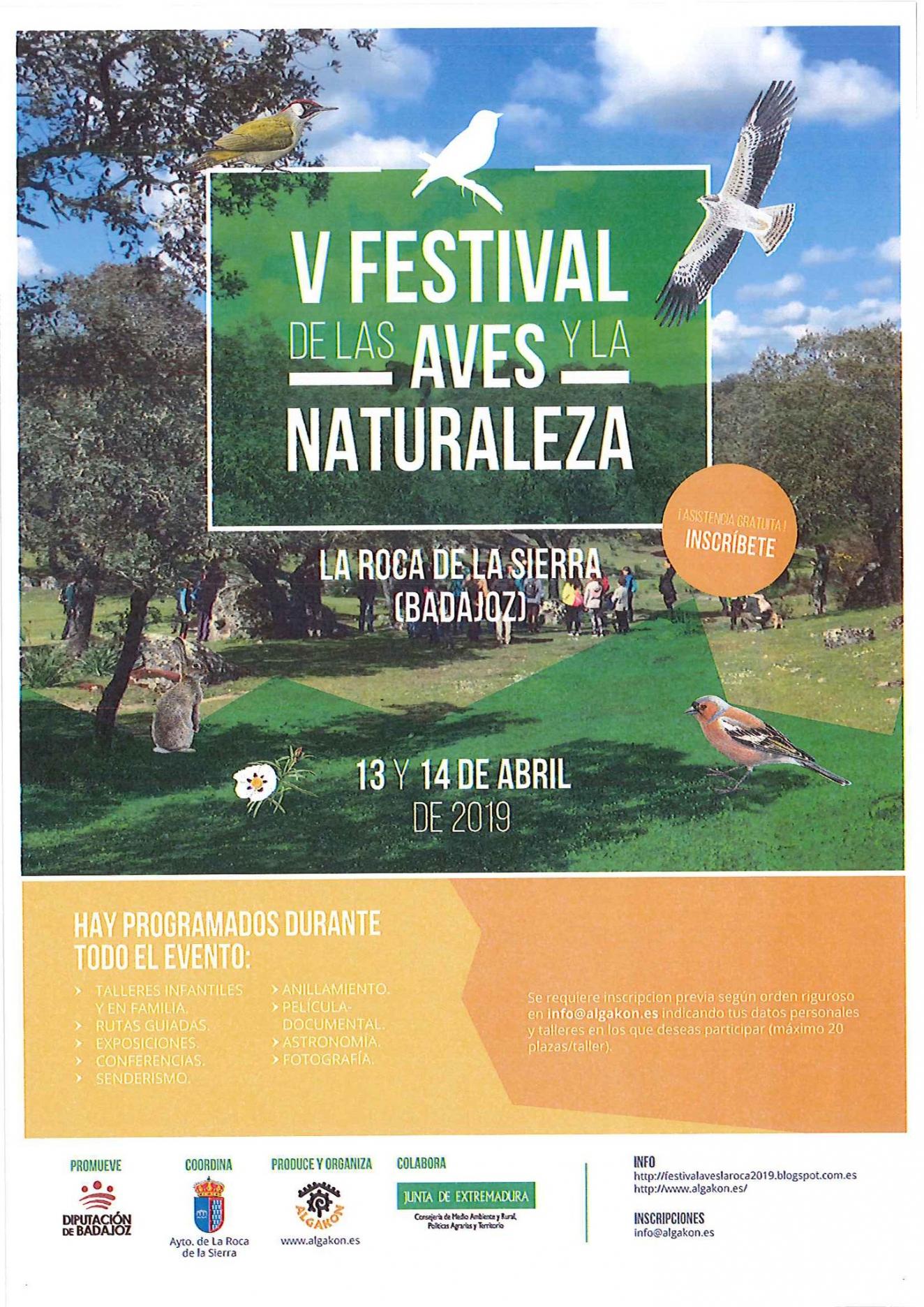 5º Festival de las Aves y la Naturaleza | La Roca de la Sierra