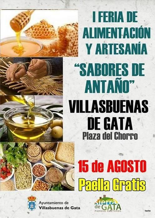 I Feria de alimentación y artesanía 'Sabores de antaño' en Villasbuenas de Gata