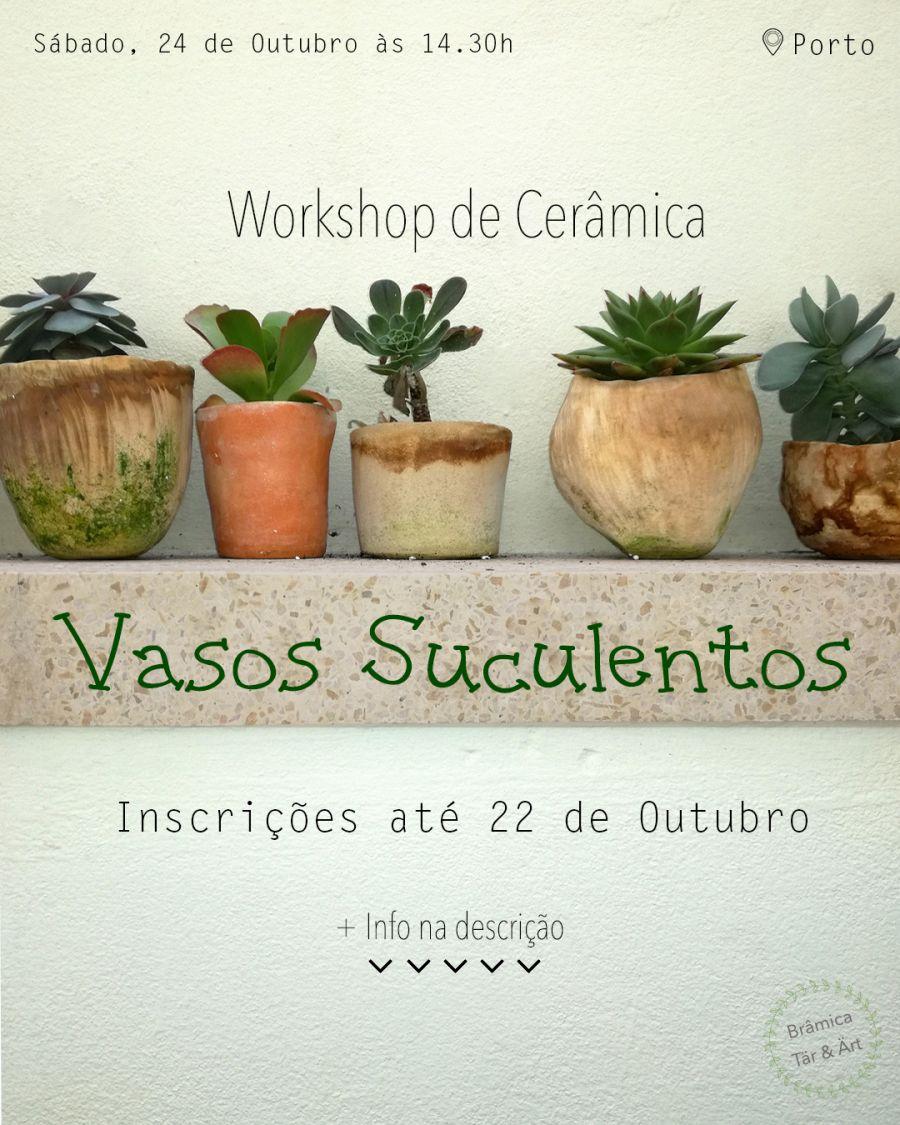Workshop de Cerâmica - Vasos Suculentos