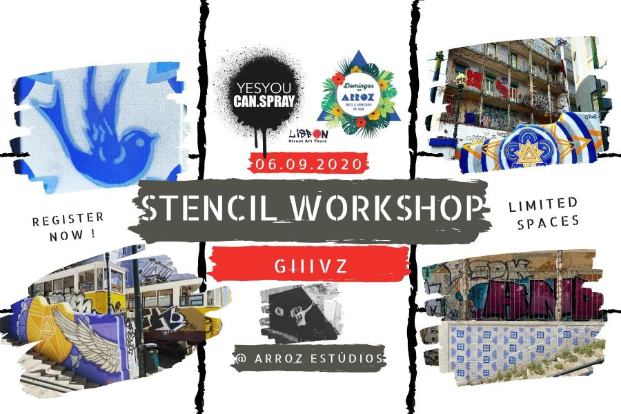 Stencil workshop com GIIIVZ