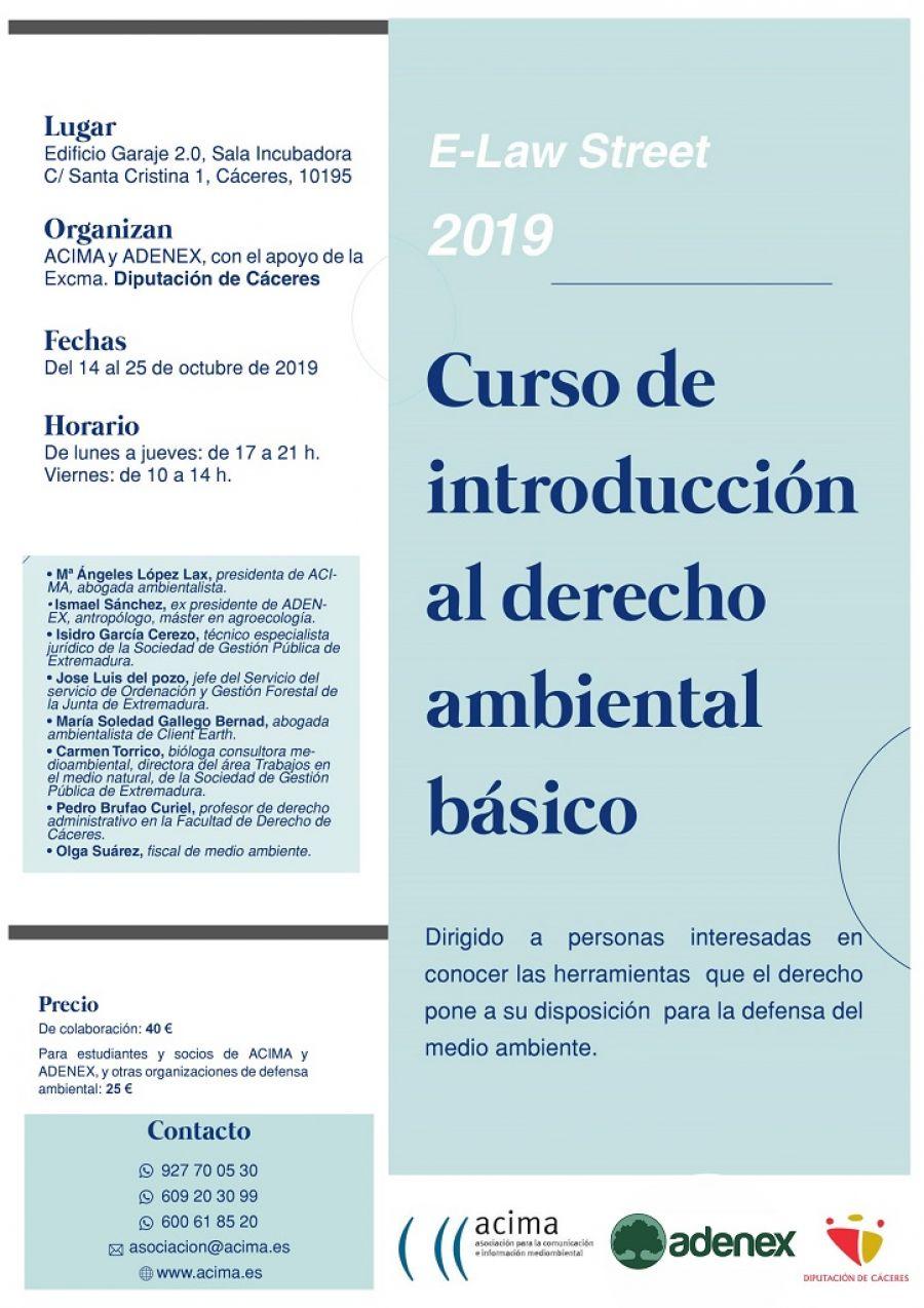 CURSO DE INTRODUCCIÓN AL DERECHO AMBIENTAL BÁSICO,