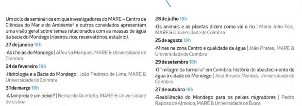 Praias fluviais na Bacia do Mondego - monitorização e valorização