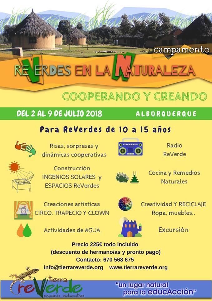 Campamento REVERDES EN LA NATURALEZA (Alburquerque)
