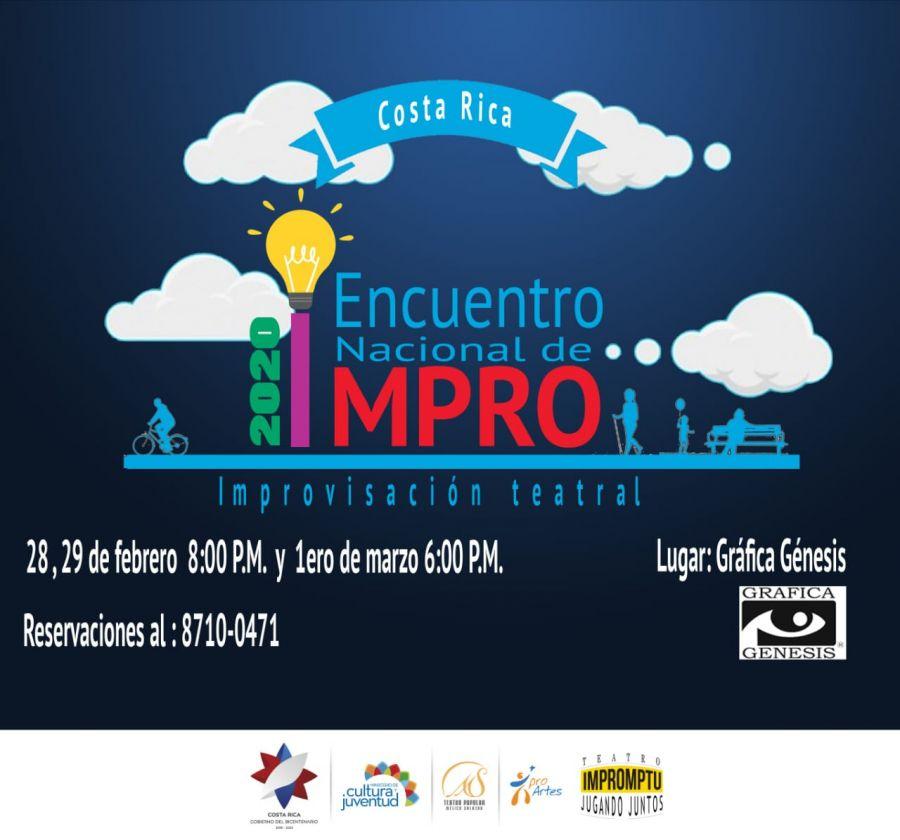 Encuentro nacional de improvisación 2020. Presentaciones y conversatorios