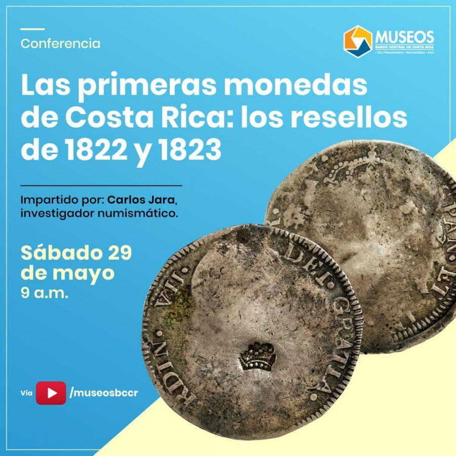 Las primeras monedas de Costa Rica: los resellos de 1822 y 1823