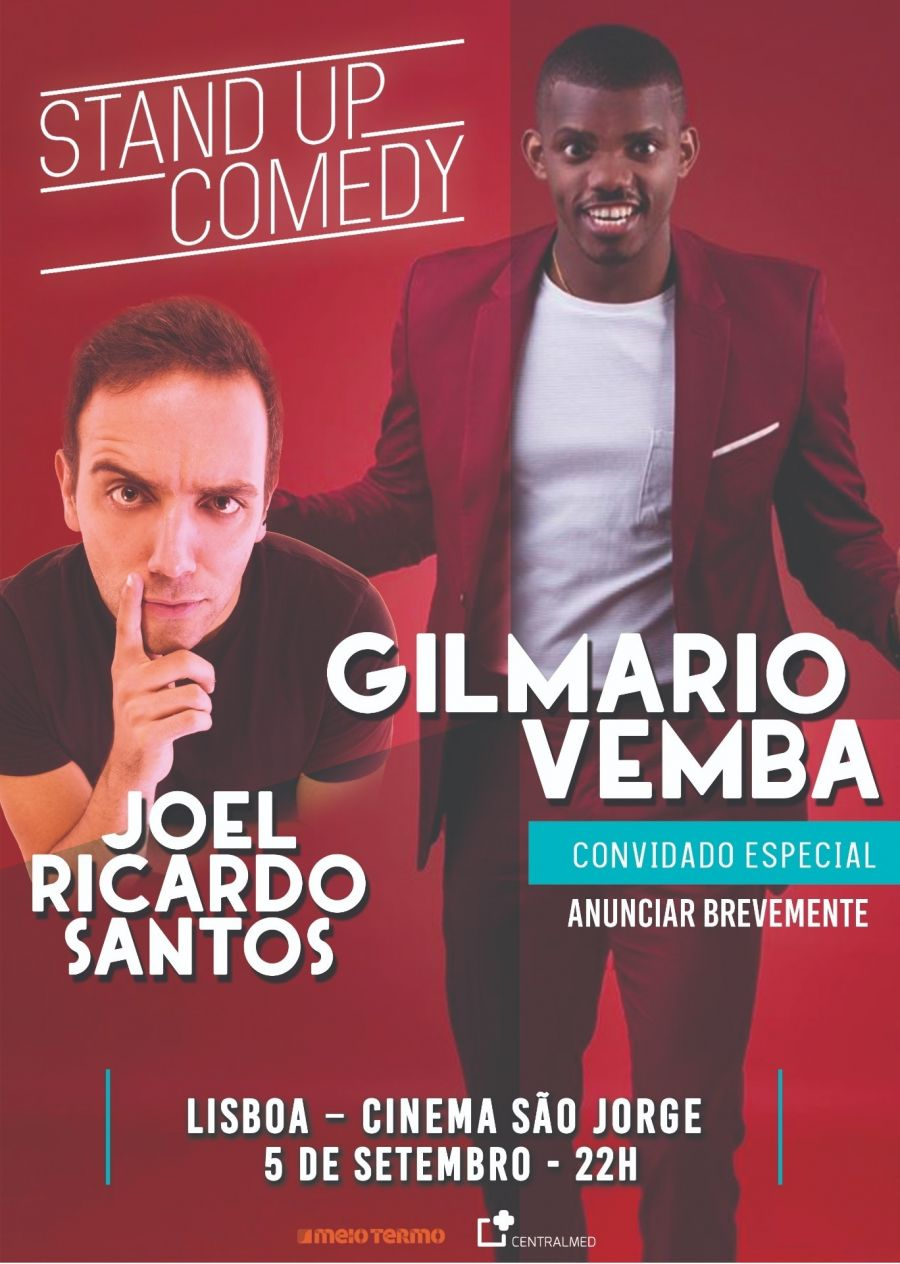 GILMÁRIO VEMBA E JOEL RICARDO SANTOS JUNTOS EM ESPECTÁCULO DE STAND-UP COMEDY