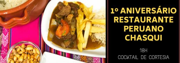 Aniversário Restaurante Peruano Chasqui