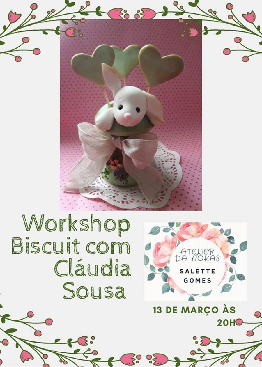 Workshop Biscuit Coelhinha da Páscoa