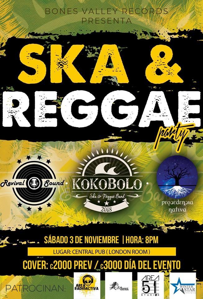 Party concert. Kokobol, Procedencia Nativa & Revival Sound. Bandas, ska y reggae