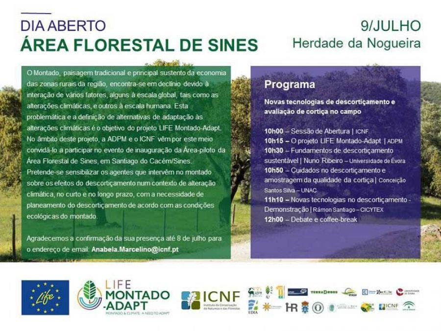 Dia aberto. Novas tecnologias de descortiçamento e avaliação de cortiça no campo. Santiago do Cacém/Sines (Portugal)