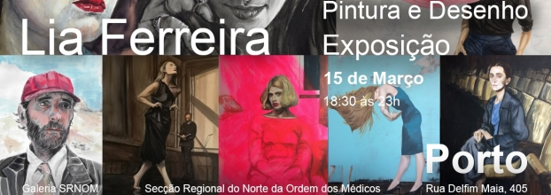 Exposição Pintura e Desenho de Lia Ferreira