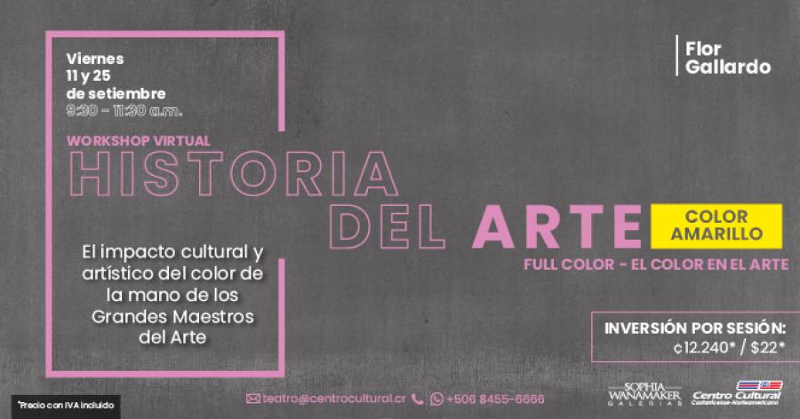 Curso de Historia del Arte Color Amarillo- Workshop Virtual