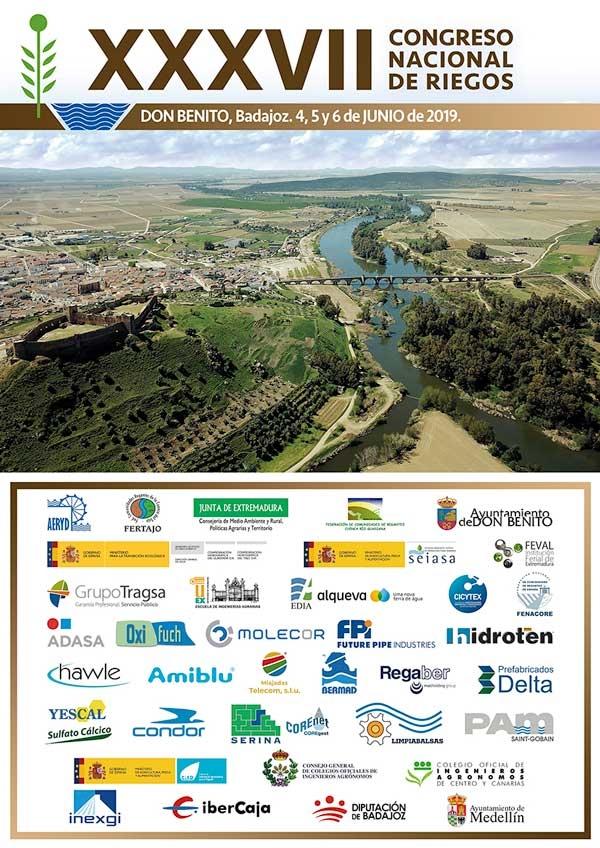 XXXVII Congreso Nacional de Riegos. Don Benito (Badajoz) 4 al 6 de junio de 2019