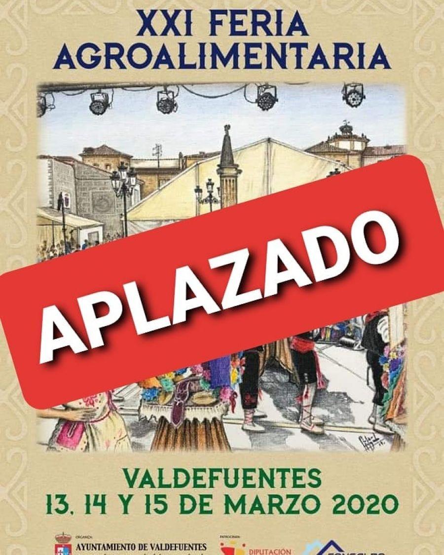 APLAZADO // XXI Feria Agroalimentaria