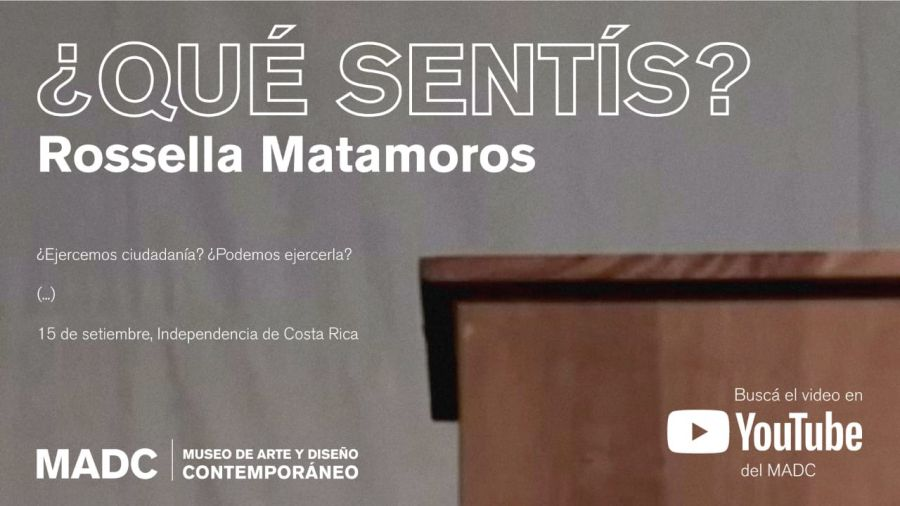 ¿Qué sentís? Rossella Matamoros. Performance