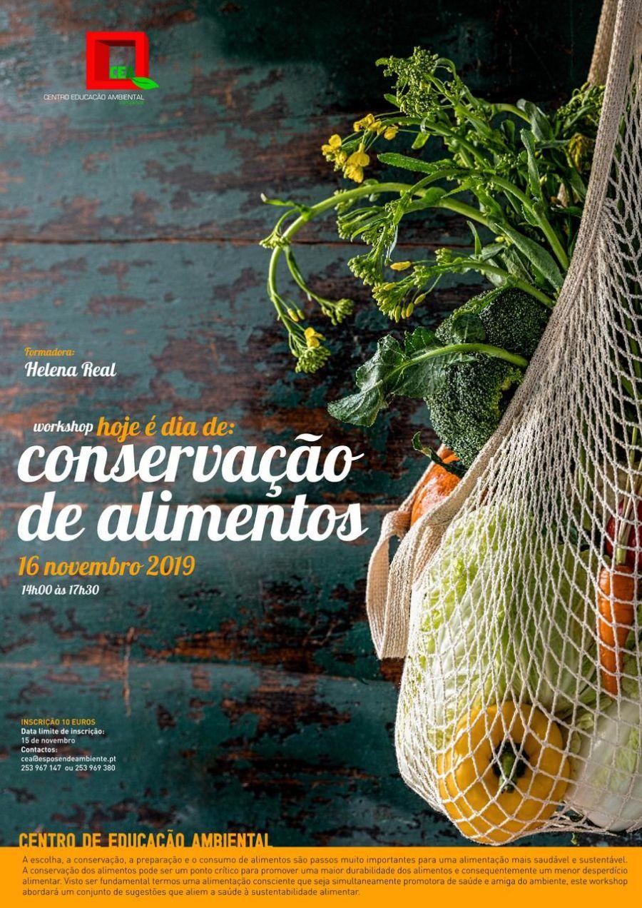 Workshop Hoje é dia de: Conservação de Alimentos