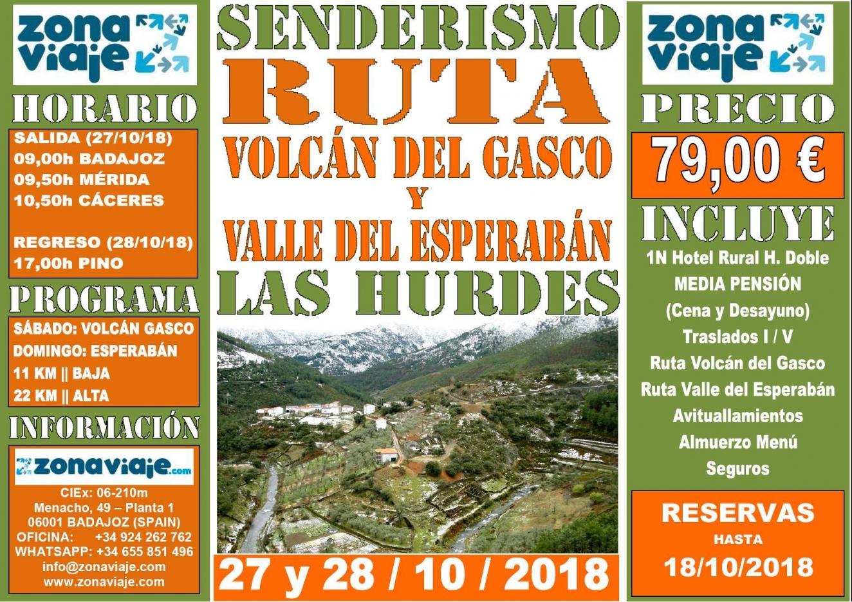 Fin de Semana Senderista - Volcán del Gasco y Valle de Esperabán