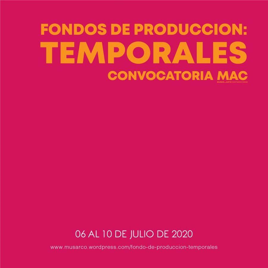 Temporales. Fondos de producción para artistas