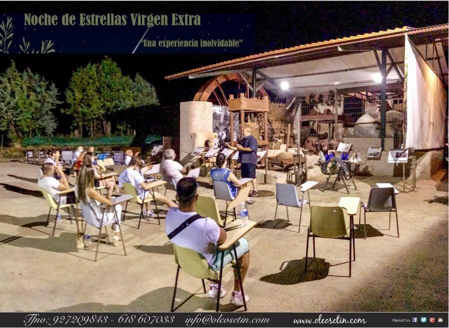 Noche de Estrellas Virgen Extra con la familia Oleosetin en Marchagaz