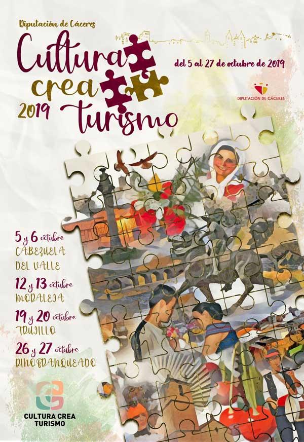 CULTURA CREA TURISMO [Del 5 al 27 de Octubre] | Diputación de Cáceres