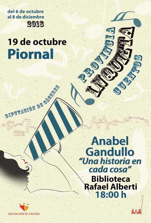 Provincia inquieta   CUENTACUENTOS: Anabel Gandullo