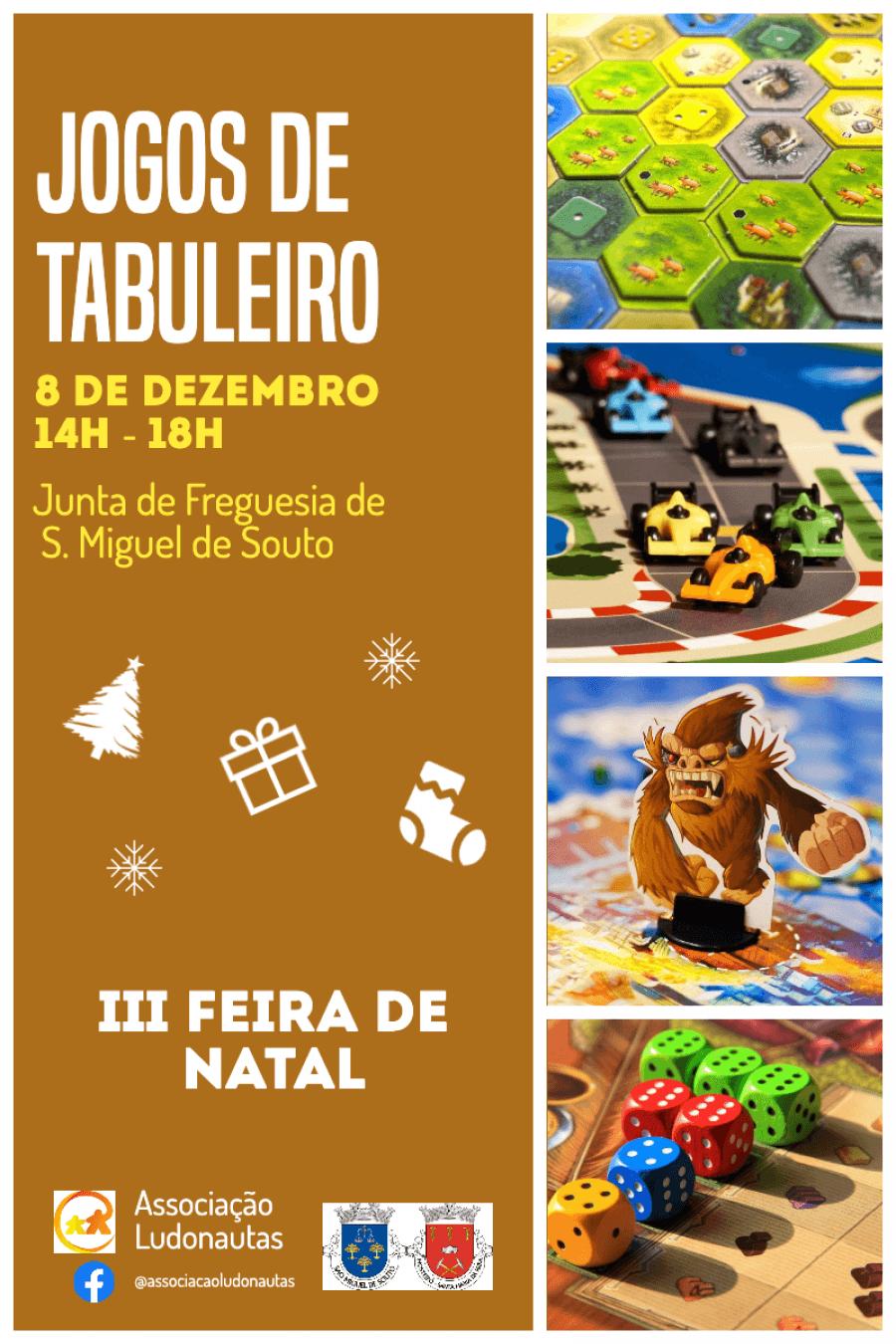 Jogos de Tabuleiro na 3ª Feira de Natal