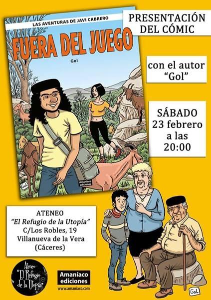 Presentación cómic: 'Fuera del juego', de Gol | Ateneo El Refugio de la Utopía