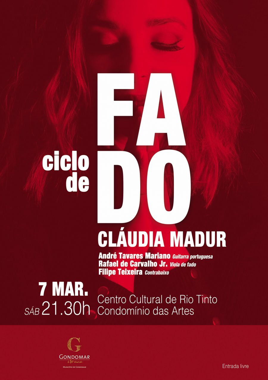 Ciclo de fado com: Cláudia Madur