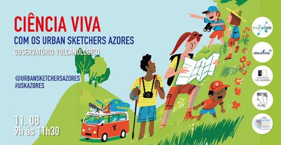Ciência Viva com os Urban Sketchers Azores