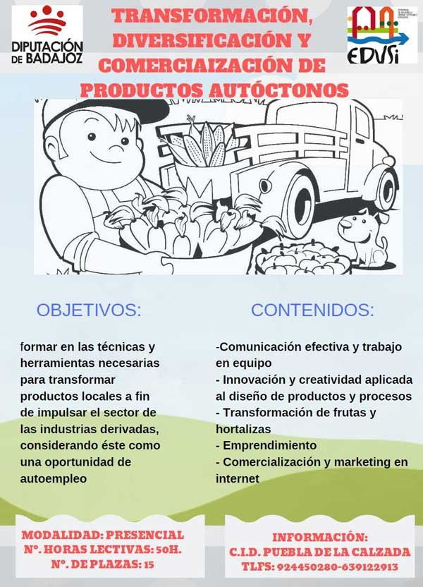 Curso transformación productos autoctonos