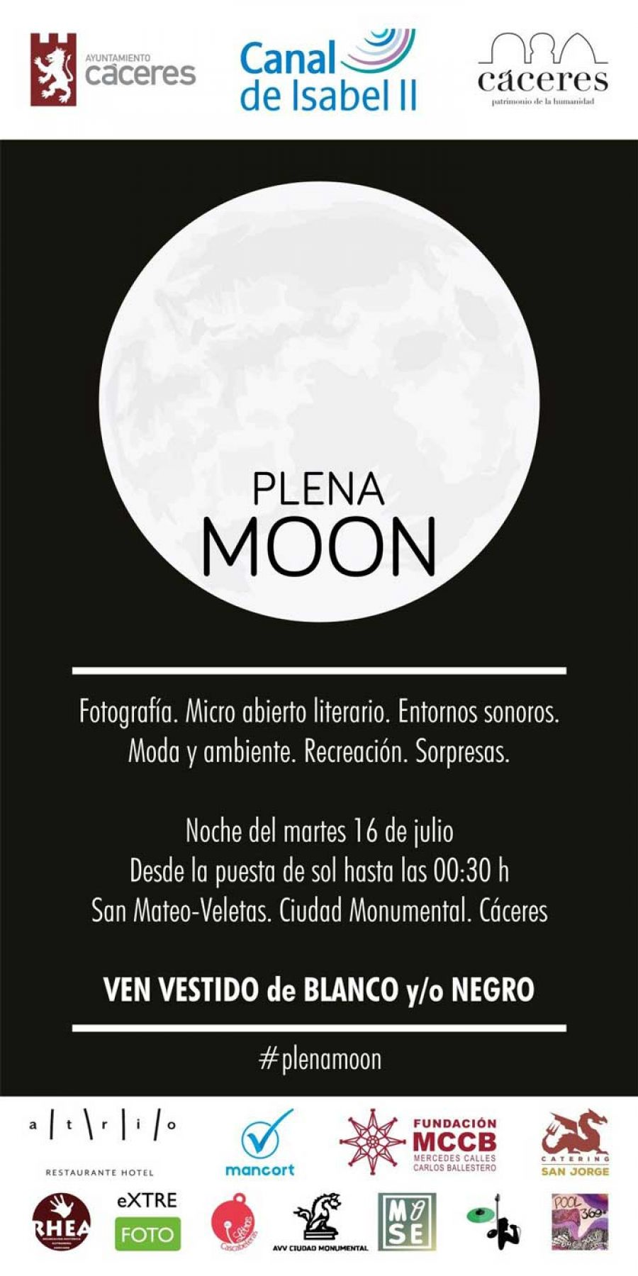 Plena MOON Cáceres 2019 | JULIO