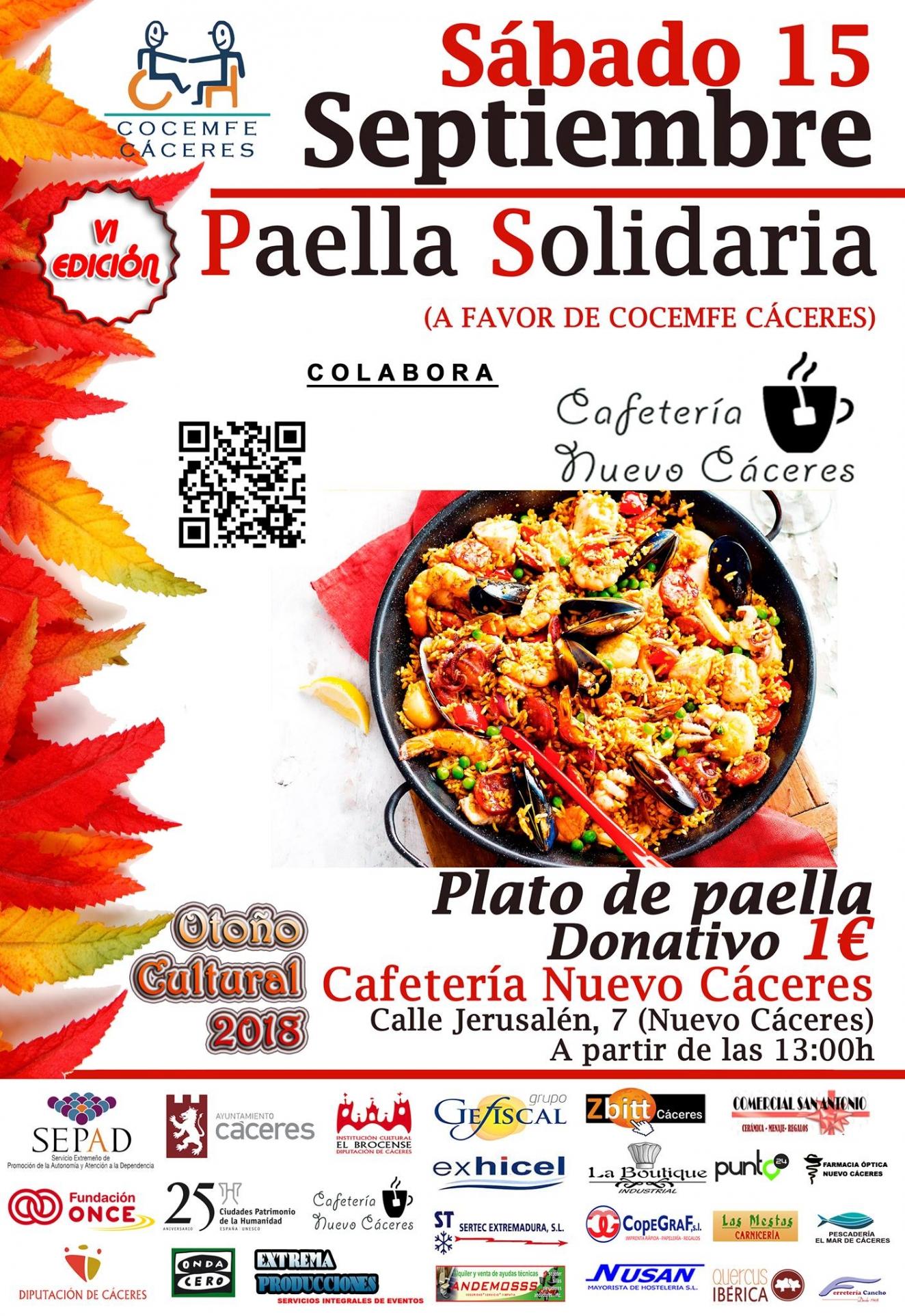 Paella Solidaria - VI Otoño Cultural Cocemfe Cáceres