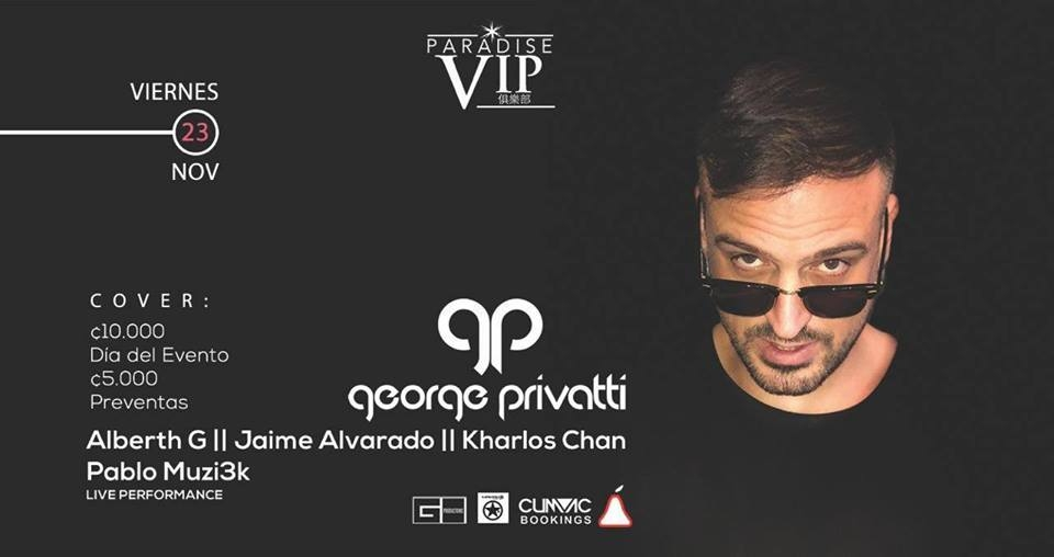 Live. George Privatti. Electro Dj set