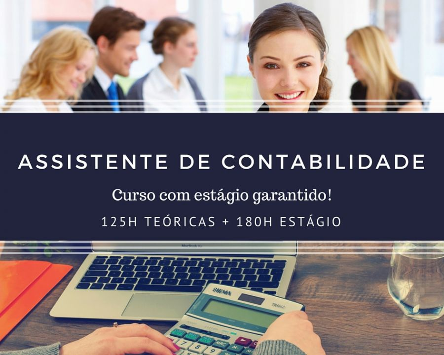 Curso de Assistente de Contabilidade - Com estágio final