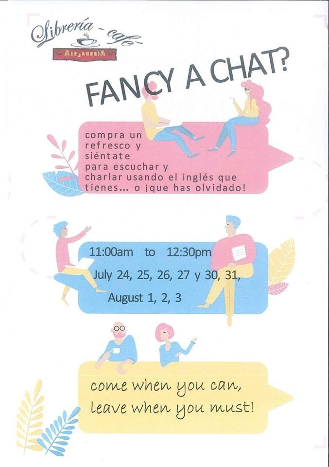 'FANCY A CHAT?' || Librería Café Alejandría