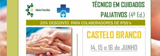 Técnico em Cuidados Paliativos | 14, 15 e 16 de JUNHO | CASTELO BRANCO