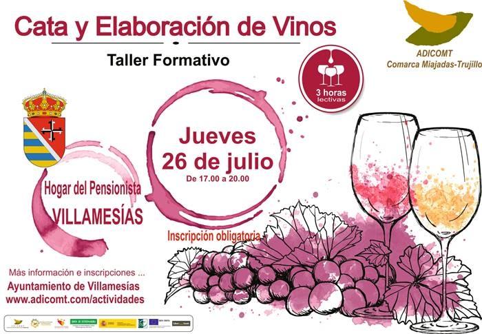 Talleres sobre cata y elaboración de vinos en la comarca Miajadas-Trujillo || Villamesías