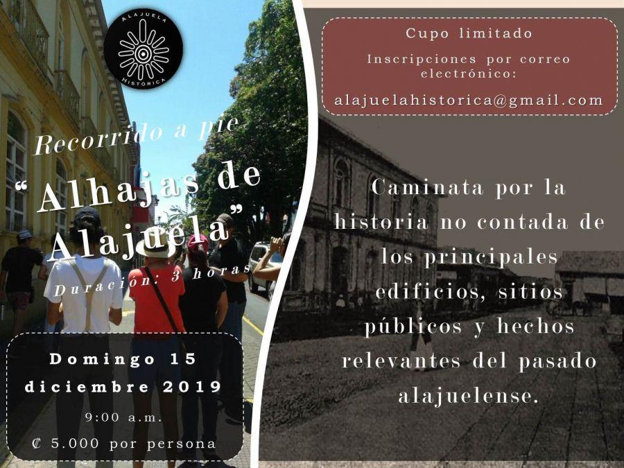 Recorrido a pie 'Alhajas de Alajuela'
