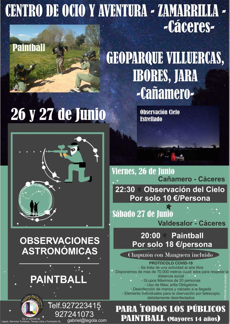 Paintball y Observación Cielo Estrellado