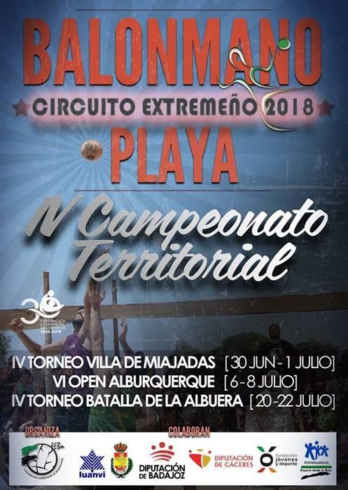 IV Campeonato Territorial de BALONMANO PLAYA || Circuito Extremeño 2018