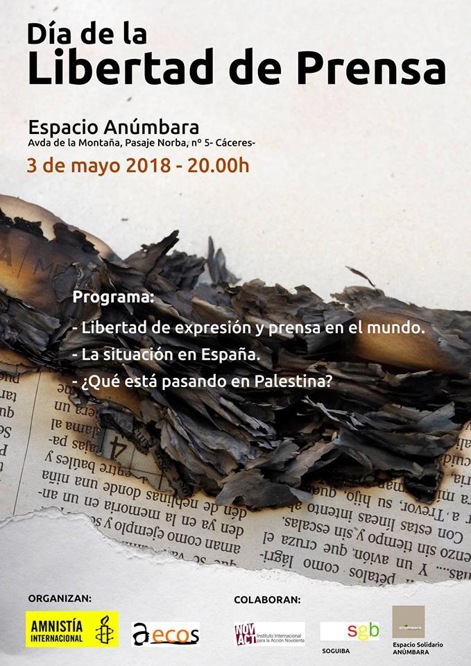Celebración del Día de la Libertad de Prensa // Espacio ANÚMBARA